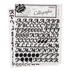 Alphabet Stickers - Calligraphic