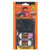 20 Halloween Rice Bulb Lights with Battery Pack, Assorted Colors