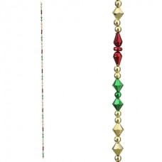 """Christmas Garland with Multicolor Beads - 36"""""""