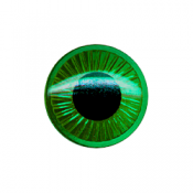 12 Plastic Eyes - Green (9 mm)