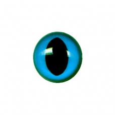 12 Slit Pupil Eyes - Blue (15 mm)