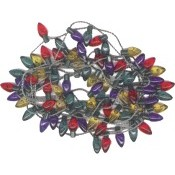 String of Mini Decorative Lights, Multi-Colored, Tapered, 72""