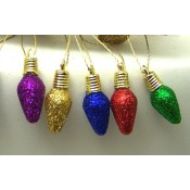 String of Mini Decorative Lights, Glittered, Tapered, 6.5 ft.