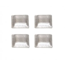 Clear Rubber Bumpers - Square (10 pc.)
