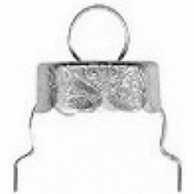 "7/8"" silver ornament caps (50 pk.)"