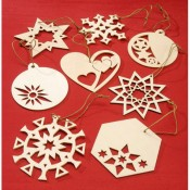 Laser-Cut Wood Ornament Shapes