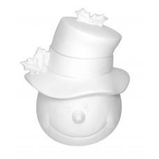 Snowman Cookie Jar Bisque