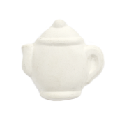 Bisque Knob Set (with Hardware) - Round Teapot (2 pc.)