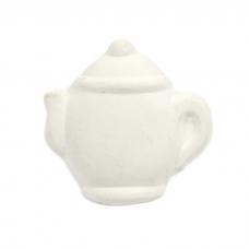 Bisque Knob Set (with Hardware) - Round Teapot (2 pc.)