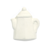 Bisque Knob Set (with Hardware) - Square Teapot (2 pc.)