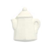 Bisque Knob Set (with Hardware) - Square Teapot (2 pc.)