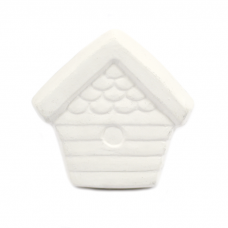 Bisque Knob Set (with Hardware) - Country Birdhouse (2 pc.)