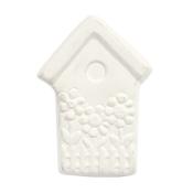 Bisque Knob Set (with Hardware) - Garden Birdhouse (2 pc.)