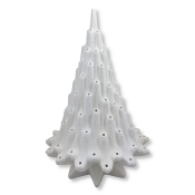 """18"""" Bisque Lava Tree Lamp with Base"""