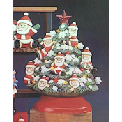 Santa Tree Mold (Top Only)