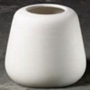 Smooth Simple Vase bisque with lid case (bisque blowout special)