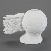 Hot Shot Soccer Ball Bank bisque