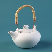 Oriental Teapot bisque case (bisque blowout special)