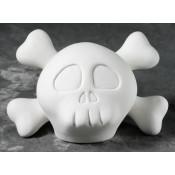 Skater Skull Bank bisque