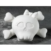 Babydoll Skull Bank bisque