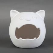 Nightmare Cat Candy Holder bisque