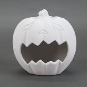 Frightful Pumpkin Candy Holder bisque