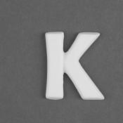 Letter K Embellie bisque