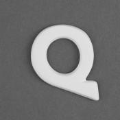 Letter Q Embellie bisque