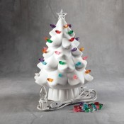 Lighted Christmas Tree bisque