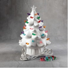 Duncan 35979 Lighted Christmas Tree Bisque