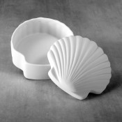 Scallop Shell Box bisque