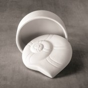 Nautilus Shell Box bisque