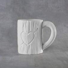 Duncan 38111 Tree Carved Heart Mug 12 oz. bisque