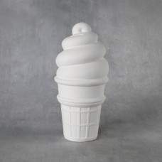 Duncan 38179 Large Ice Cream Cone Bank Bisque