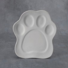 Duncan 38242 Paw Print Plate Bisque