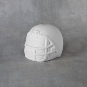 Football Helmet Bank bisque (case)