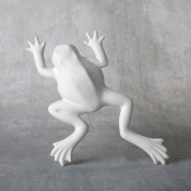 Small Wall Frog bisque