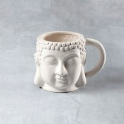 Buddha Mug 20 oz. Bisque