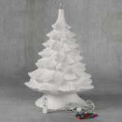 """17"""" Christmas Tree with Base bisque (case)"""