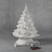 """14"""" Christmas Tree with Base bisque (case)"""