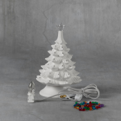 """8"""" Christmas Tree with Base bisque (case)"""