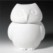Owl Cookie Jar bisque