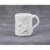 Dragon Mug bisque