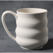 Wavy Mug stoneware bisque