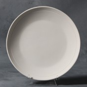 Rimmed Salad Plate stoneware bisque