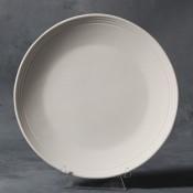 Rimmed Salad Plate stoneware bisque