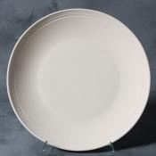 Rimmed Dinner Plate stoneware bisque