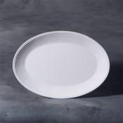 """12"""" Oval Platter stoneware bisque"""