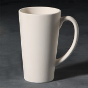Latte Cup stoneware bisque