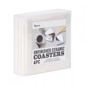 """4"""" unfinished ceramic coasters (4 pk.)"""